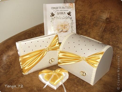 Цветовое решение свадьбы бело-золотое. Всё сделано моими руками. фото 1