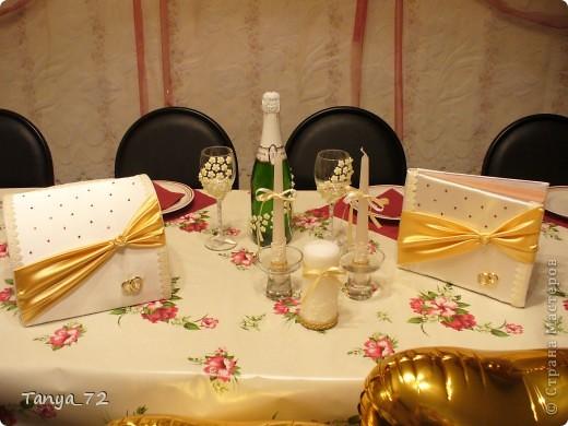 Цветовое решение свадьбы бело-золотое. Всё сделано моими руками. фото 9