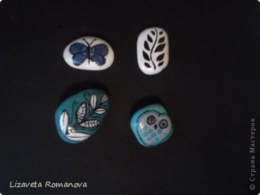 Первый опыт росписи камней фото 4