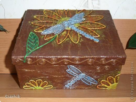 Была коробочка простая, а стала.... Очередное Спасибо Татьяне Сорокиной http://stranamasterov.ru/user/151613 . Ну и фотографии.. фото 3