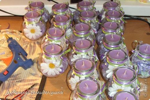 На свадьбе дочери планируем зажечь лавандовые свечи во время снятия фаты. До этого момента эти свечи будут выполнять роль декора зала. фото 1
