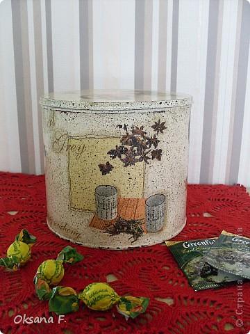 Все эти работы были сделаны на заказ. Большая жестяная банка для рассыпного чая или трав, лейка и чайный дом. фото 2