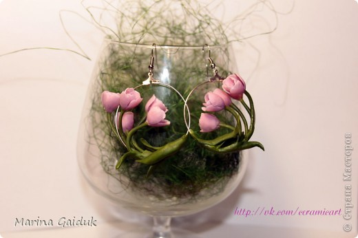 Засмотревшись на  работу Екатерины Звержанской, я и себе попробовала сделать мини тюльпаны на кольцах. вам судить как вышло) фото 2