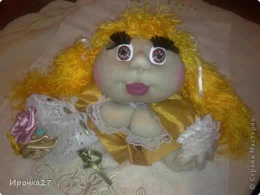 Вот такая золотая девочка по имени Злата у меня получилась... фото 3