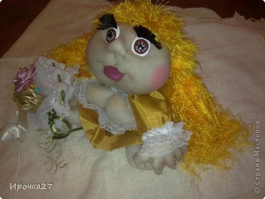 Вот такая золотая девочка по имени Злата у меня получилась... фото 1