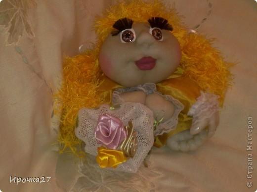 Вот такая золотая девочка по имени Злата у меня получилась... фото 2