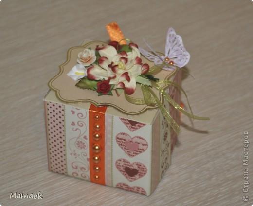 На выходных сделала вот такую коробочку для чая )) делала без особого повода, просто захотелось сделать приятный сюрприз одной замечательной женщине фото 2