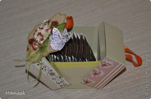 На выходных сделала вот такую коробочку для чая )) делала без особого повода, просто захотелось сделать приятный сюрприз одной замечательной женщине фото 3