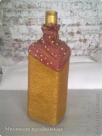 Вот такую бутылочку я решила сделать из ракушек. Это одна из первых моих работ. фото 4