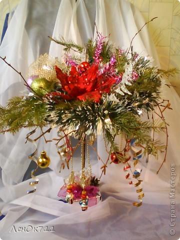 Бутылочка обклеена парчой( на ПВА) + ракушки + сухие травы, забрызганные золотой краской фото 6