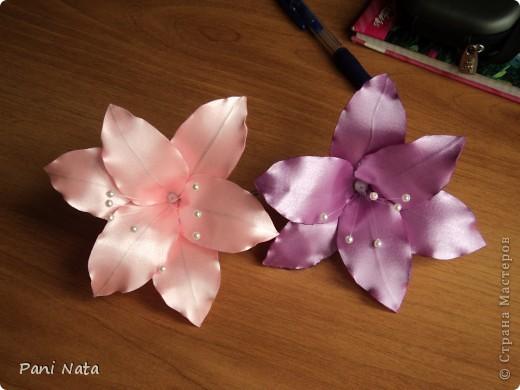 Ура !!! Освоила новый цветок Лилию ! Великолепно смотрится на  длинных волосах !!!  фото 2