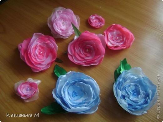 Цветочки из ткани фото 1