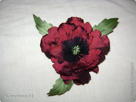 Цветочки из ткани фото 3