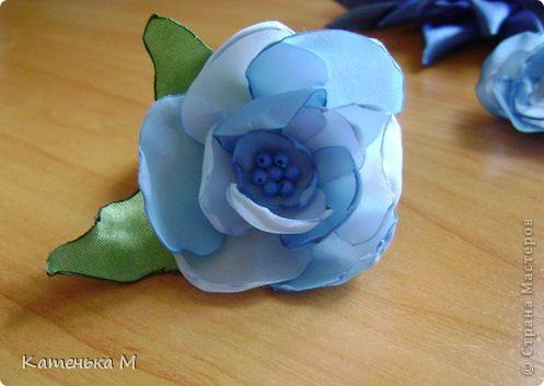Цветочки из ткани фото 5