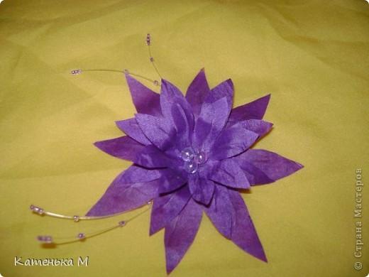 Цветочки из ткани фото 4