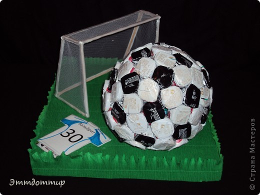 Футбольный мяч своими руками поделка