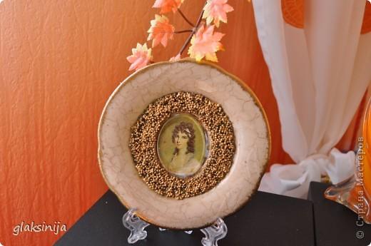 панно Красавица(салфетка,яичная скорлупа,подрисовка) фото 6
