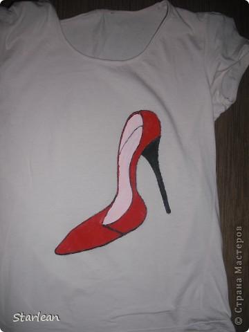 футболка с туфелькой. фото 2