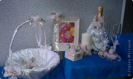 Свадебный набор. Ниже покажу поближе отдельные предметы. фото 1