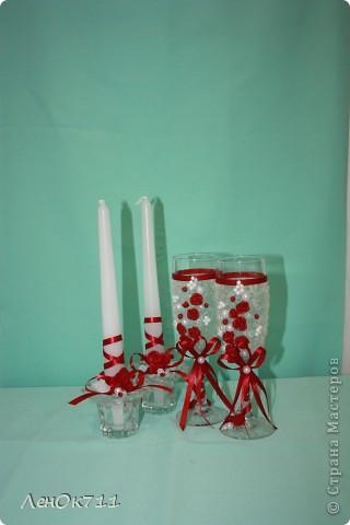 Свадебный набор. Ниже покажу поближе отдельные предметы. фото 8