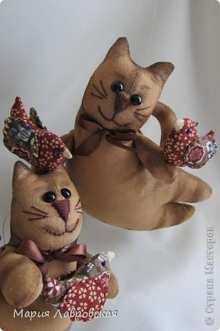 Продолжаем разговор... И опять  я с летящими котами, покрашенными кофейно-коричной смесью, тонированными акриловыми красками. фото 6