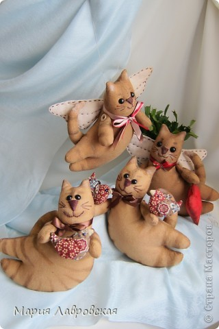 Продолжаем разговор... И опять  я с летящими котами, покрашенными кофейно-коричной смесью, тонированными акриловыми красками. фото 7