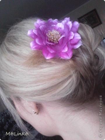 """Заколка """"Цветок"""" фото 2"""