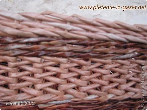 Зравствуйте, дорогие мастера-плетельщики! Вот недавно освоила новый вид плетения - зигзагом, представляю на ваш суд работы с его использованием.  Это фрагмент коробушки - узор крупным планом. фото 1
