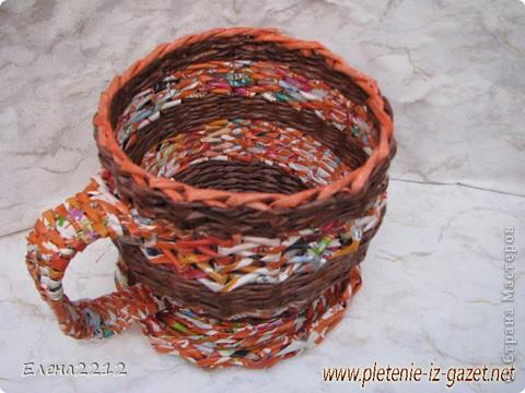 Зравствуйте, дорогие мастера-плетельщики! Вот недавно освоила новый вид плетения - зигзагом, представляю на ваш суд работы с его использованием.  Это фрагмент коробушки - узор крупным планом. фото 5