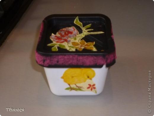 для моего первого опыта мама мне доверила коробочку из-под мороженого и, вот что вышло! фото 1
