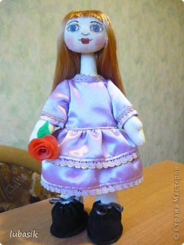 Очень мне понравилось шить таких куколок и сшила ещё одну по выкройке Анечки (ALIBI ).  фото 1