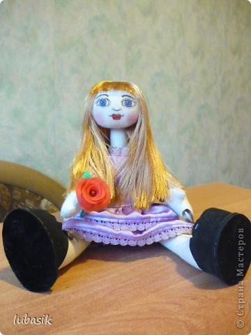 Очень мне понравилось шить таких куколок и сшила ещё одну по выкройке Анечки (ALIBI ).  фото 9