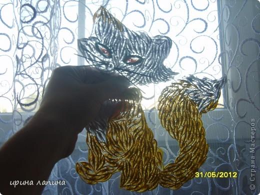 Здравствуйте Страна Мастеров!!! Я сегодня с новой работой, мультяшной. Кошечка и котёнок, увидела у дочки в книжке и мне очень захотелось сделать их в квиллинге. фото 3