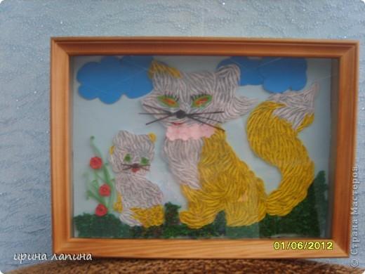 Здравствуйте Страна Мастеров!!! Я сегодня с новой работой, мультяшной. Кошечка и котёнок, увидела у дочки в книжке и мне очень захотелось сделать их в квиллинге. фото 4