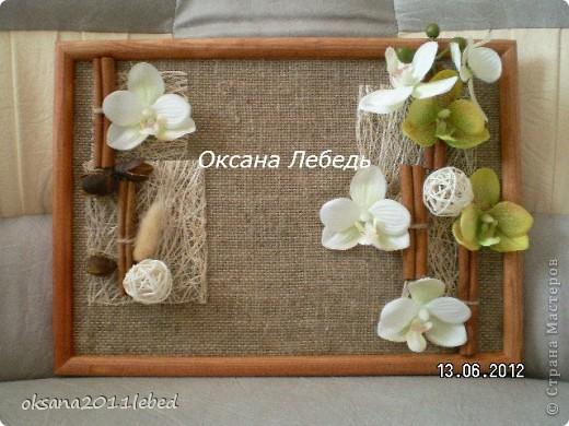 Привет всем!!!! Забегаю к Вам на минутку, добавить новую работку, панно в догонку к топику орхидейному! фото 1