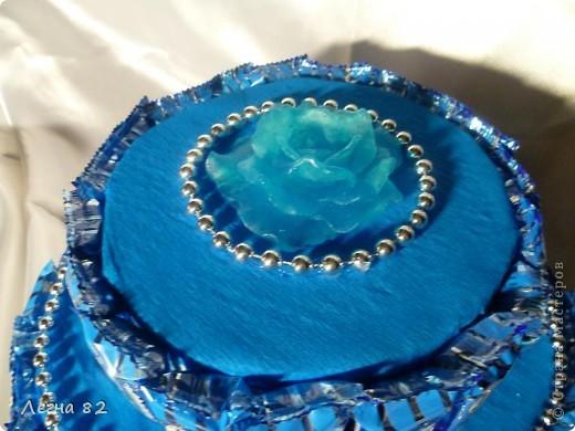 Вот такой тортик сварганила в подарок.  фото 2