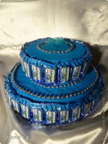 Вот такой тортик сварганила в подарок.  фото 1