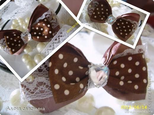"""""""шоколадка"""" ободок для девочки"""