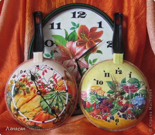 Часы на сковороде с декупажем.С миру по идее. Обсуждение на LiveInternet - Российский Сервис Онлайн-Дневников