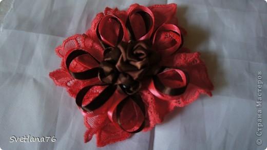 Розы делала по МК Полыни http://stranamasterov.ru/node/269709?tid=451%2C1303 Спасибо ей огромное. Ленты шириной 2,5см. фото 3