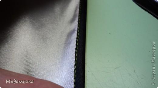на лицевую часть ткани прикладываем тесьму , лицо к лицу и видим сгиб, желобок или кому как нравится...срезы уравниваем,  фото 7