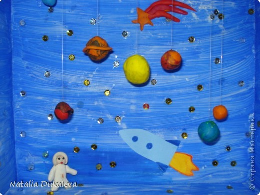 Эти макеты мы делали вместе с дочей в детский сад. У них каждую пятницу - тематический день. Нужно приносить либо игрушки на определенную букву алфавита, любимую книгу и т.д. Алфавит закончился, книжки тоже перечитали, теперь начались дни на тему Космос, Джунгли, Подводный мир. Джунгли мы не сделали, оставили на следующий год. Пока довольствуемся этим. Они сейчас живут в детском саду. фото 2