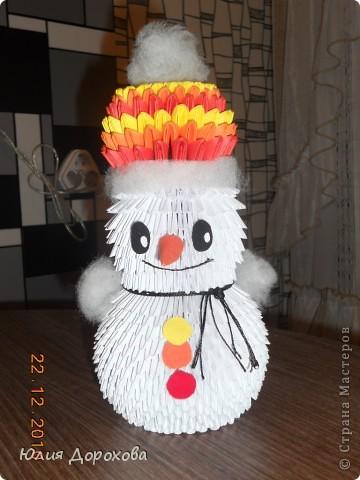 Это моя вторая работа в технике оригами. Подарок на свадьбу. Вдохновлялась здесь в Стране мастеров. Спасибо всем. фото 5