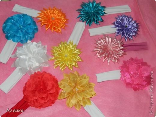 Повязочки для детейБольшие цветы в технике выжигание по ткани фото 1