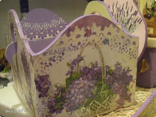 Добрый день,кто заглянул ко мне на страничку!!! В дополнение к чайному домику-Лавандовое утро- родился этот подарочный набор для дочери.Ей очень понравился чайный домик и тема лаванды , фиалки в нежно лавандовом цвете....вот и родилось все это дополнение... фото 8
