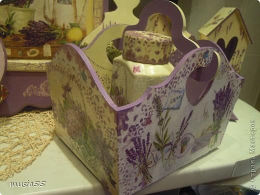 Добрый день,кто заглянул ко мне на страничку!!! В дополнение к чайному домику-Лавандовое утро- родился этот подарочный набор для дочери.Ей очень понравился чайный домик и тема лаванды , фиалки в нежно лавандовом цвете....вот и родилось все это дополнение... фото 10