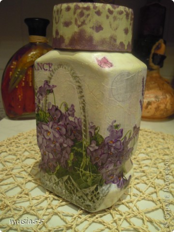 Добрый день,кто заглянул ко мне на страничку!!! В дополнение к чайному домику-Лавандовое утро- родился этот подарочный набор для дочери.Ей очень понравился чайный домик и тема лаванды , фиалки в нежно лавандовом цвете....вот и родилось все это дополнение... фото 7