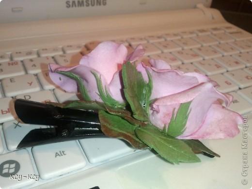 Заколочки с цветами.... и ягодками..... фото 2