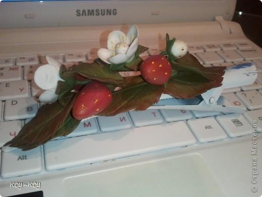 Заколочки с цветами.... и ягодками..... фото 4
