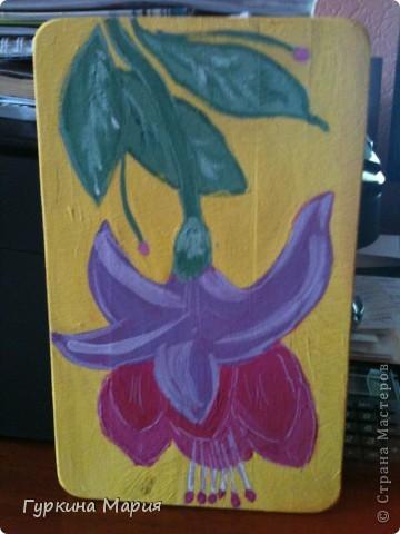 Это мои разделочные досточки полностью нарисованные гуашью. фото 3